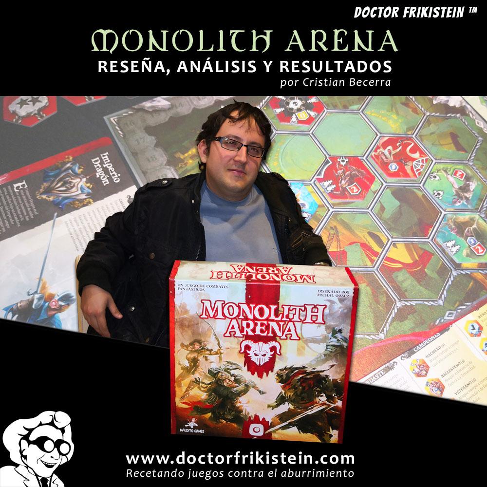 Monolith Arena juego tablero