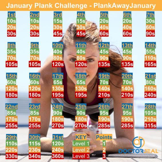 January Plank Challenge - PlankAwayJanuary
