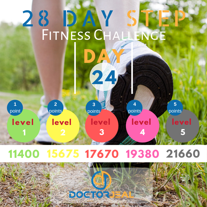 28 Day Step Fitness Challenge Day 24