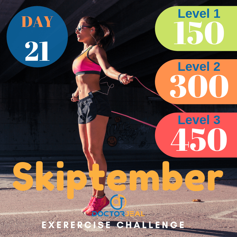 September Skipping Challenge Target Guide Day 21