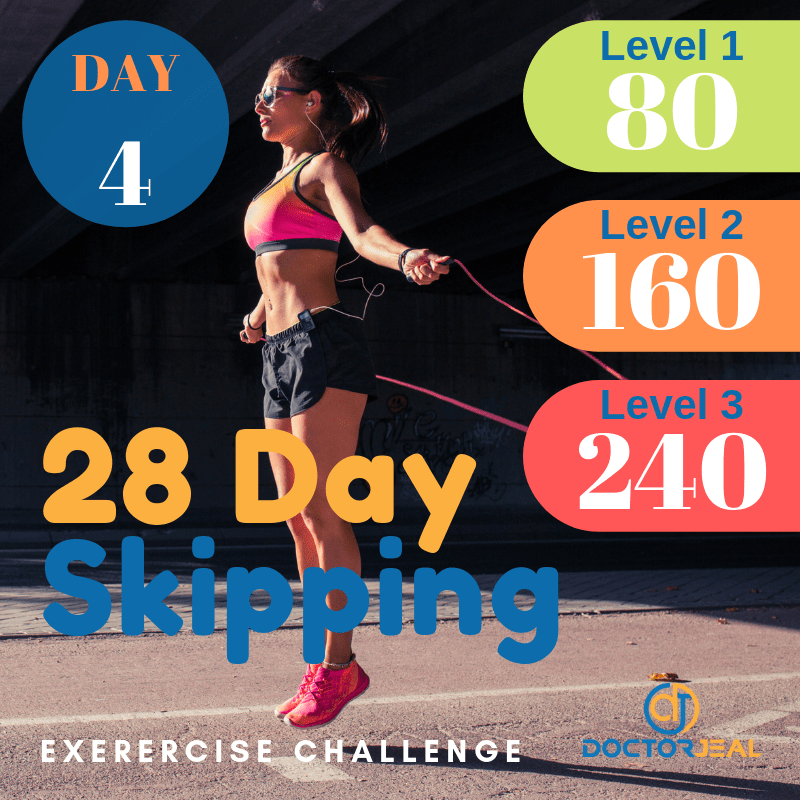 28 Day Skipping Challenge Day 4