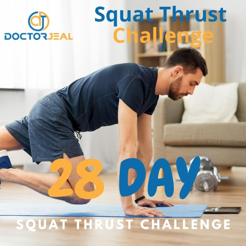 28 Day Squat Thrust Challenge Title Male