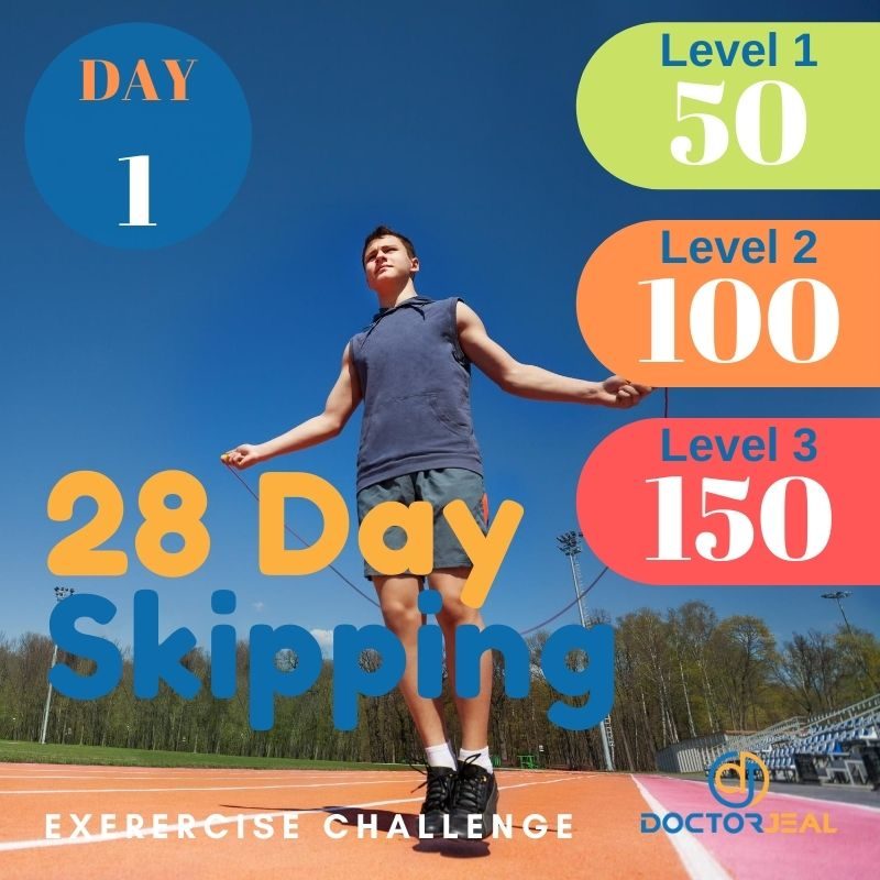 28 Day Skipping Challenge - Male Day 1