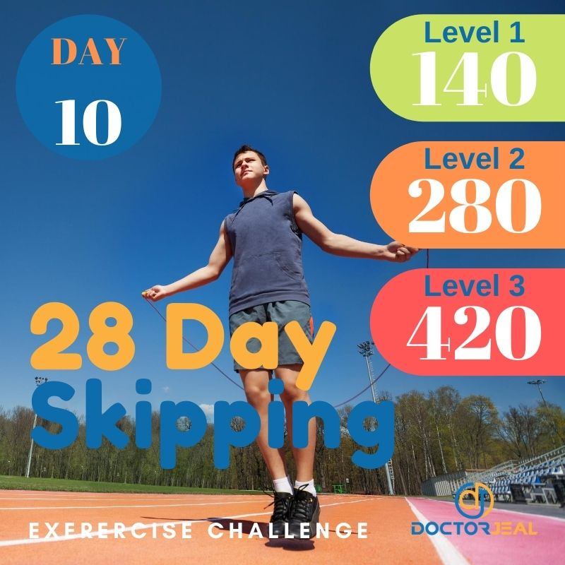 28 Day Skipping Challenge - Male Day 10