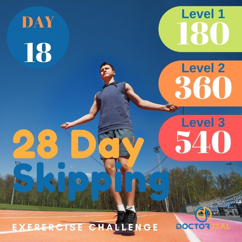 28 Day Skipping Challenge - Male Day 18