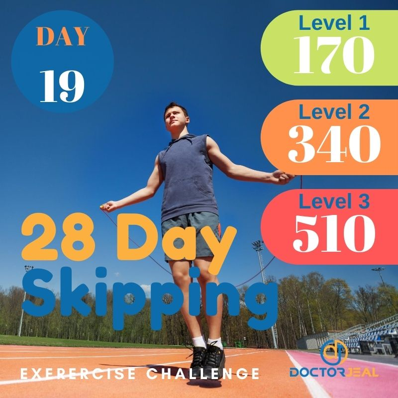 28 Day Skipping Challenge - Male Day 19