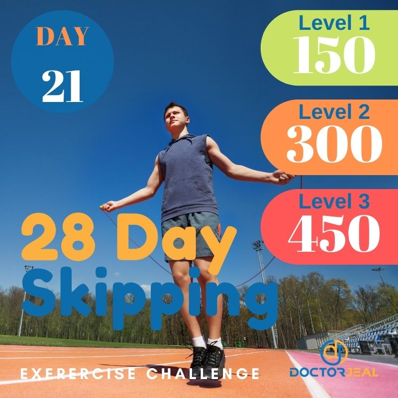 28 Day Skipping Challenge - Male Day 21