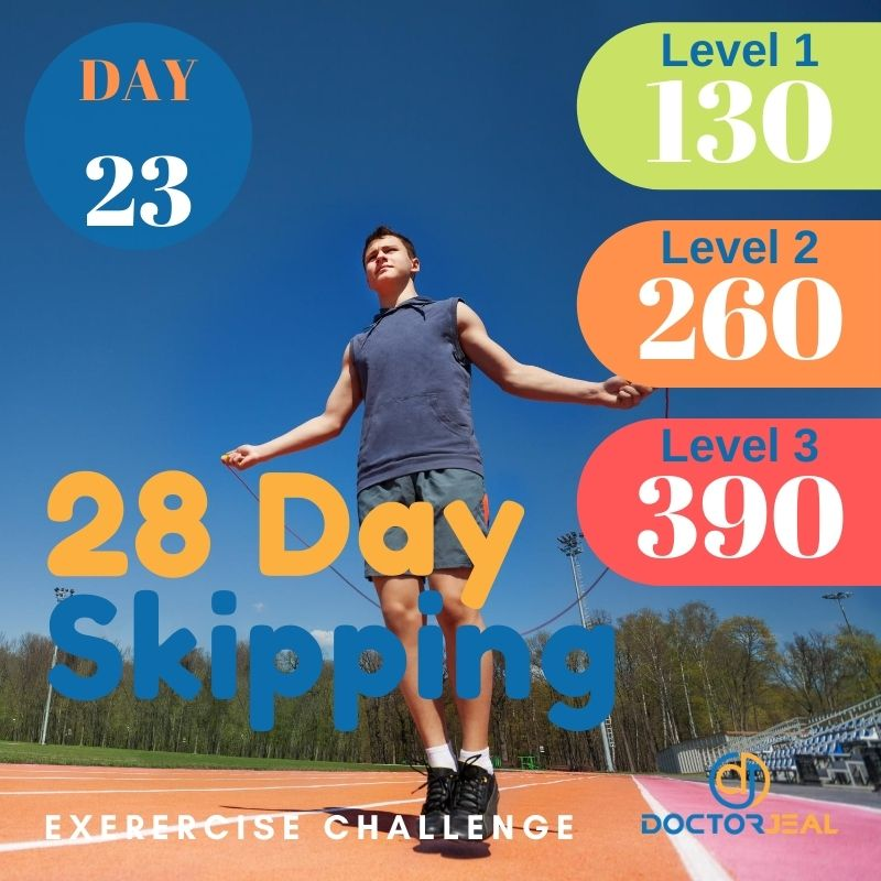 28 Day Skipping Challenge - Male Day 23