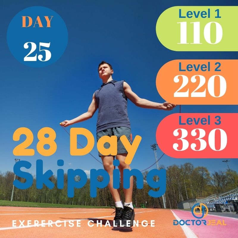28 Day Skipping Challenge - Male Day 25