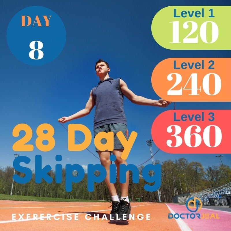 28 Day Skipping Challenge - Male Day 8