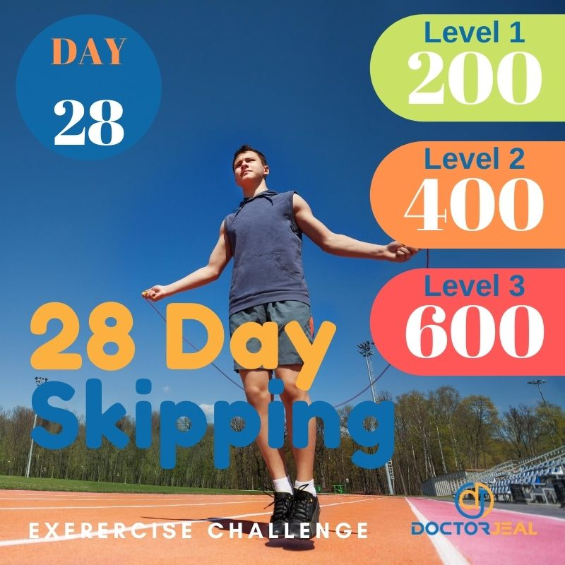 28 Day Skipping Challenge - Male Day 28