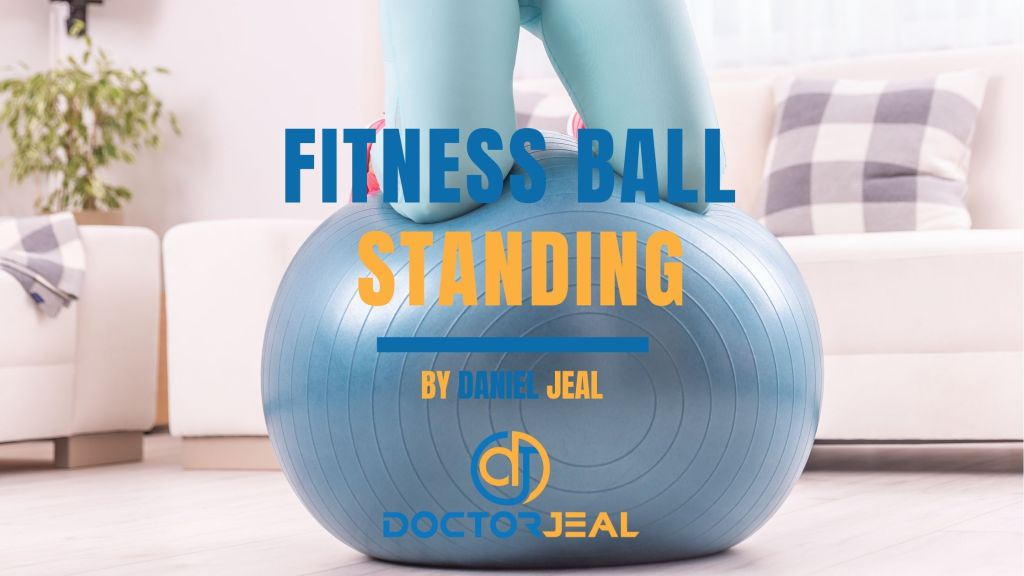 Fitness Ball Standing Exercise Title