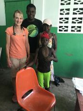 Diane is a N.P. who practices in an ER setting. During this trip she cared for this little girl who had cerebral malaria and a secondary meningitis. We all worked together to help care for a condition none of us had seen before.