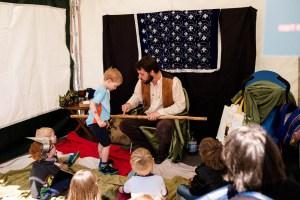 Story Telling Tent @ Leek Market Place   England   United Kingdom