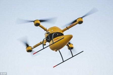 dhl parcel drone picture