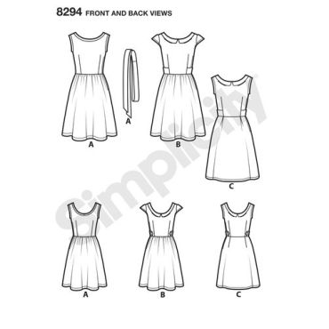 simplicity-dress-pattern-8294-front-back-view