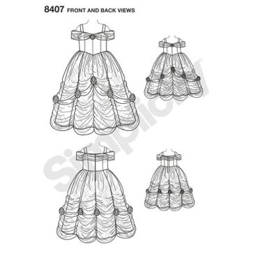 simplicity-costume-pattern-8407-front-back-view