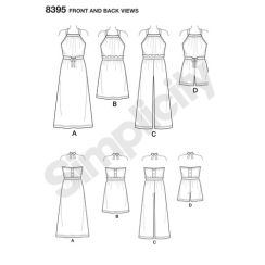 simplicity-halter-dress-pattern-8395-front-back-view