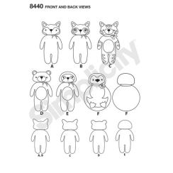 simplicity-felt-stuffies-pattern-8440-front-back-view