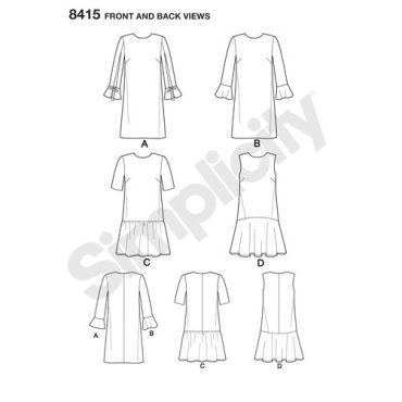 simplicity-sheath-dress-pattern-8415-front-back-view