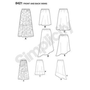 simplicity-skirts-aline-skirt-easy-miss-pattern-8421-front-back-view