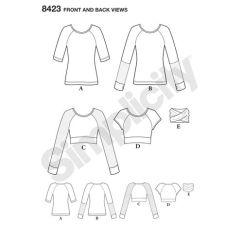 simplicity-top-vest-pattern-8423-front-back-view