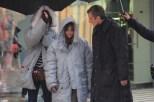 Jenna y Peter, en el frío de Cardiff.