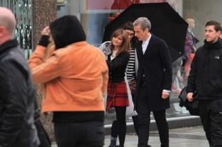 Jenna y Peter, en la locación.