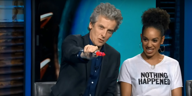 Peter Capaldi shows off his brand new Sonic Screwdriver!