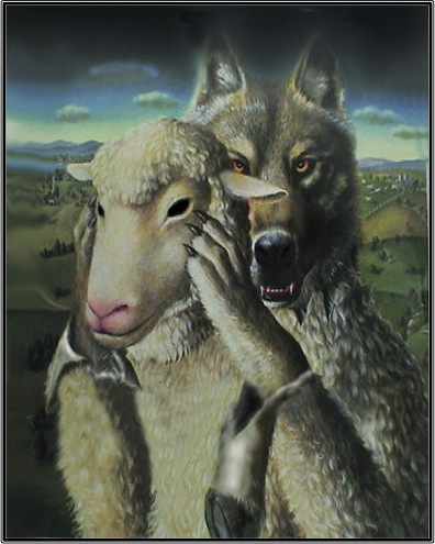 The Wolf in Sheep's Clothing Artist Unknown