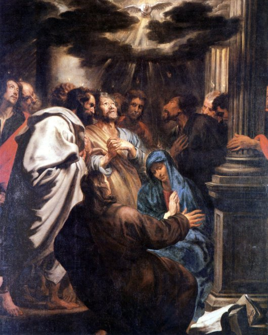 The Descent of the Holy Spirit by Anthony Van Dyck Cir.1618-1620