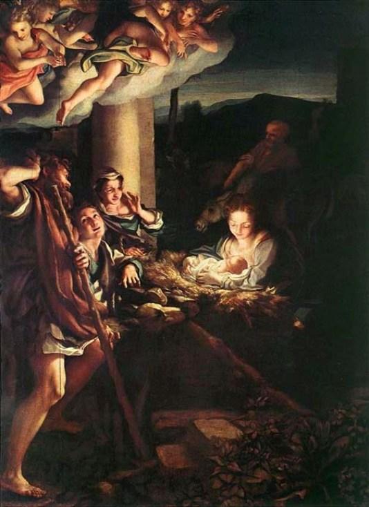 Birth of Jesus by Antonio Allegri, called Correggio, 1528