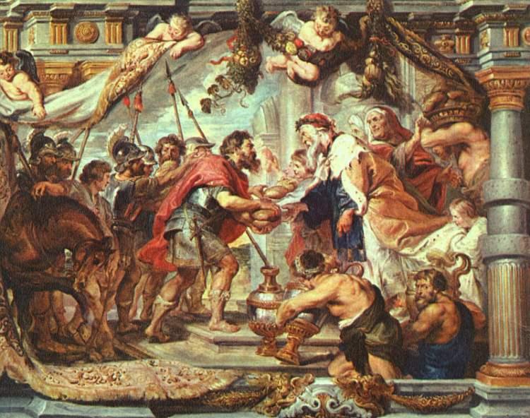 Abraham Meets Melchizedek by Rubens Cir 1625
