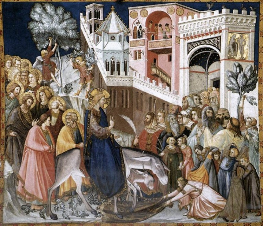 Entry into Jerusalem by Pietro Lorenzetti Cir. 1320