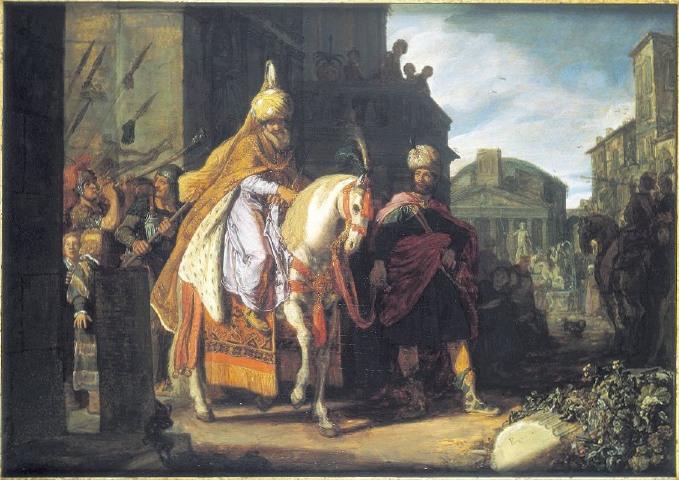Modecai's Triumph by Pieter Eastman Cir 1617
