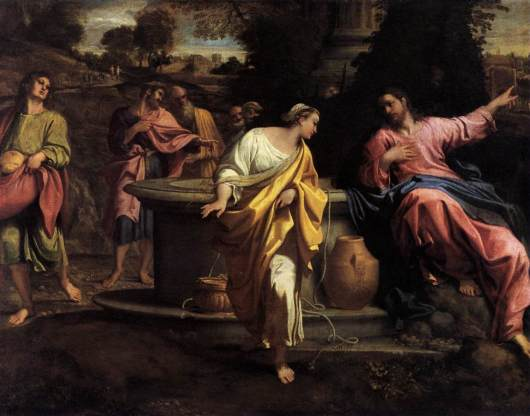 The Samaritan Woman at the Well by Annibale Carracci Cir 1560-1609
