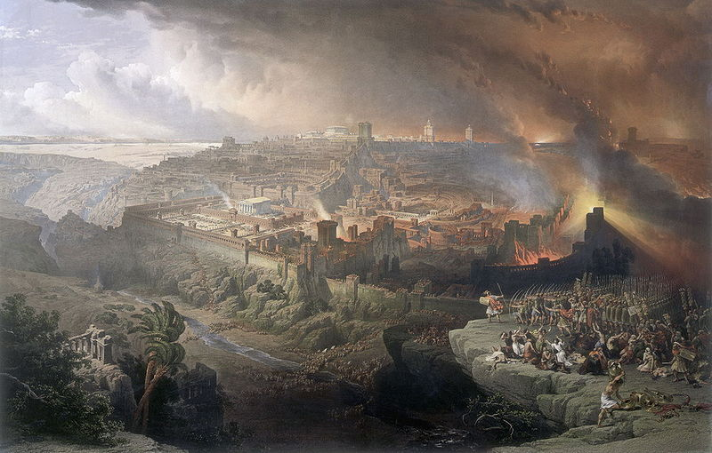 Roman Destruction of Jerusalem by David Roberts Cir 1850