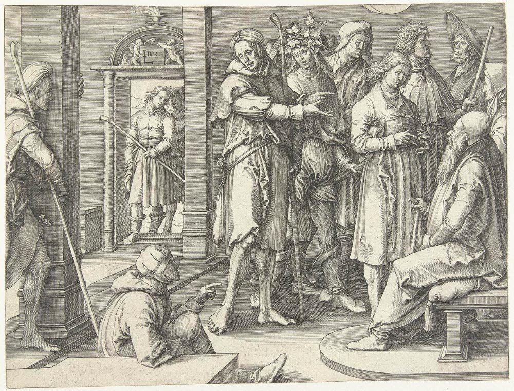 Joseph Tells His Dreams to Jacob Lucas van Leyden Cir 1500
