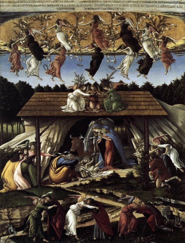 The Birth of Christ by Sandro Fillpepi Botticelli Cir. 1500