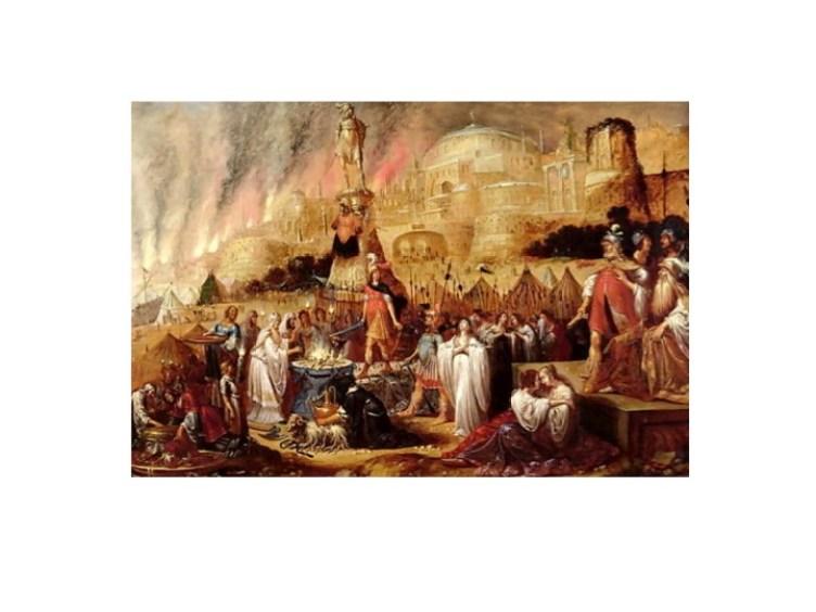 Sacrifice of Jephthah's Daughter by Rombout Van Troyen Cir. 1643