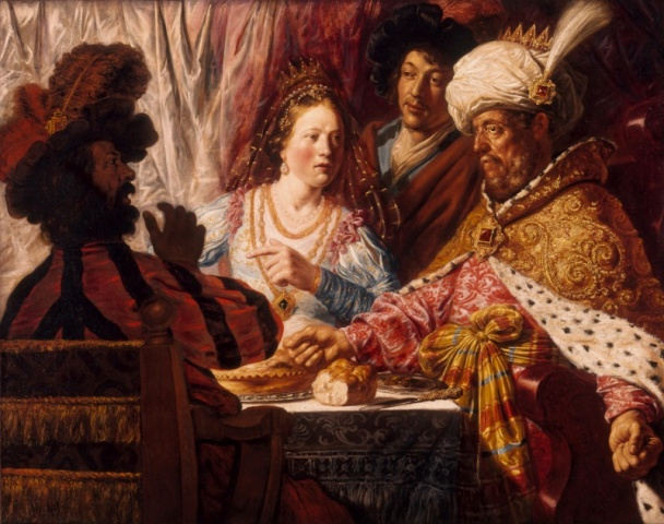 The Feast of Esther by Jan Livens Cir 1625