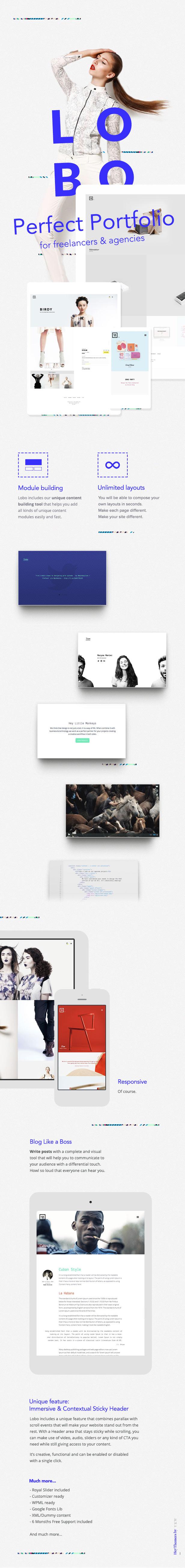 Lobo - WordPress Portfolio for Freelancers & Agencies - 4