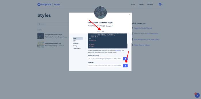 Mapbox Usage