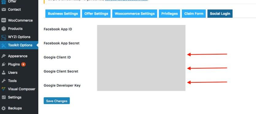 social-api-google-key-wyzi-theme-business-finder