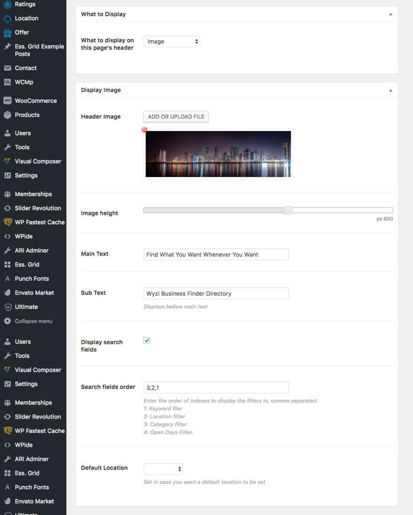 wyzi-header-image-options-in-page-settings