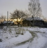 One of the ghost villages in Chernobyl, Ukraine. December 2010.