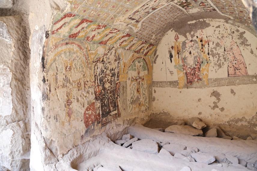 Ihlara Valley, tombs north of Eğritaş Church.