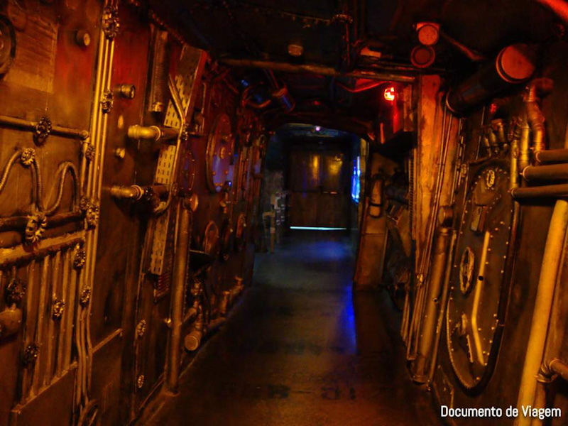 Submarino do aquário