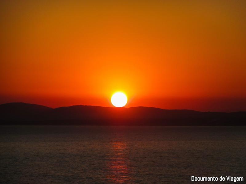 Punta del Este por do sol