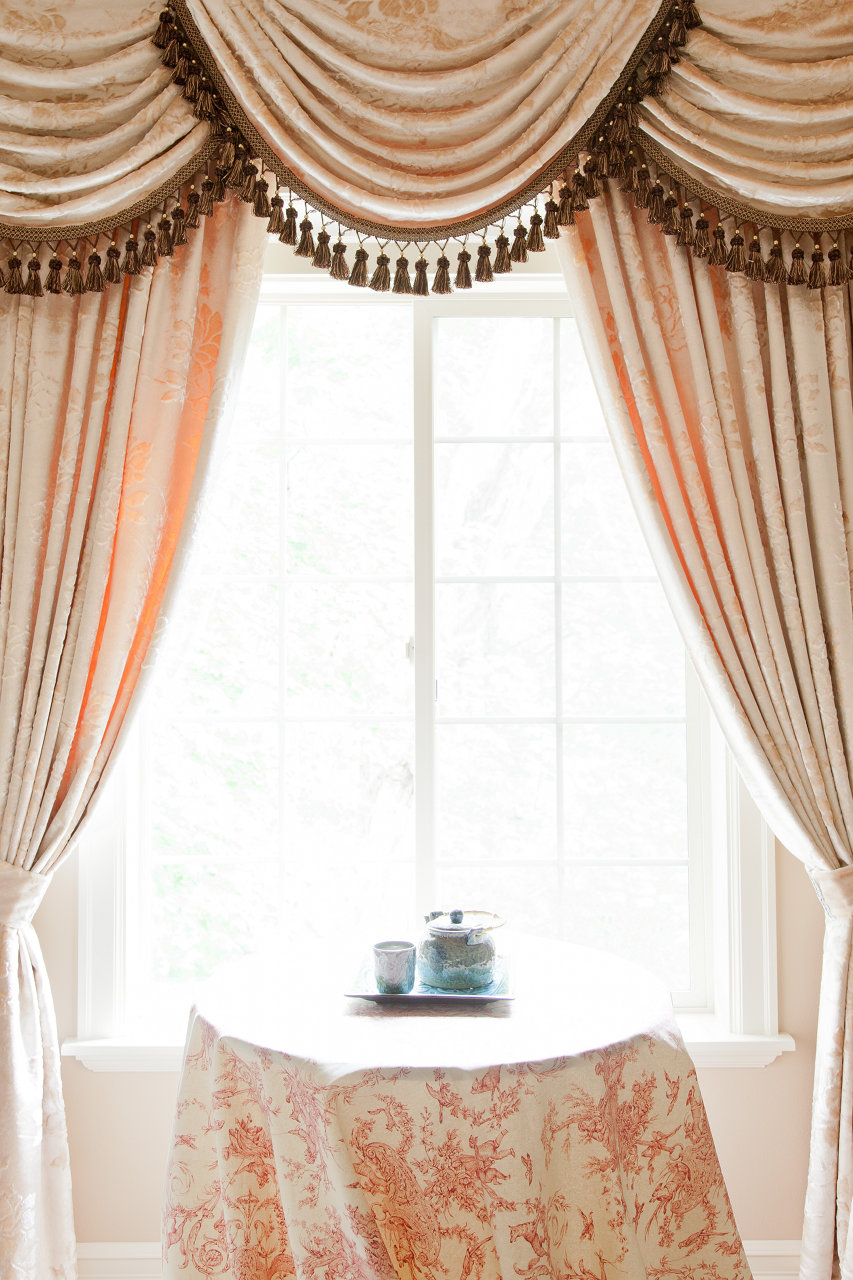 Peony Pavillion Swags and Tails Valance Curtain Drapes on Draping Curtains Ideas  id=35016